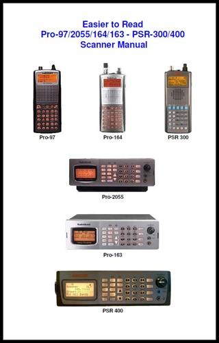 easier to read pro97 2055 163 164 psr300 400 scanner manual rh scannermaster com Radio Shack Police Scanner Manual Radio Shack Scanner Frequency List