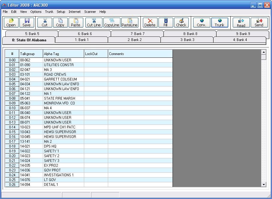 how to program pro 164 scanner