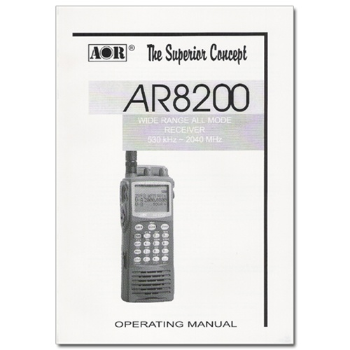 OMAR8200 Owners Manual for AR8200 | Scanner Master