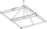 "30"" H Non-Penetrating Roof Mount"