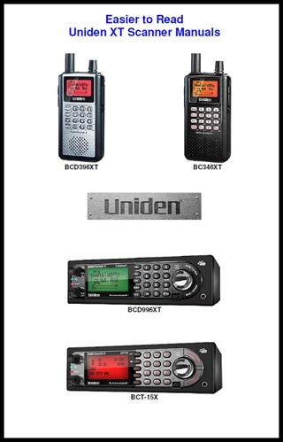 Easier to Read Uniden XT/996P2 Scanner Manual