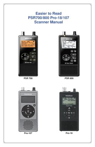 easier to read psr700 800 pro 18 107 scanner manual scanner master rh scannermaster com Radio Shack Online Catalog radio shack scanner pro 84 manuels
