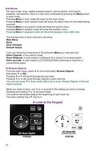 Easier to Read PSR700/800 Pro-18/107 Scanner Manual