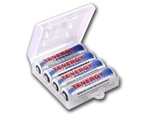 4 Pack with plastic case - Tenergy Premium AA 2500nAh NiMH Rechargeable Battery